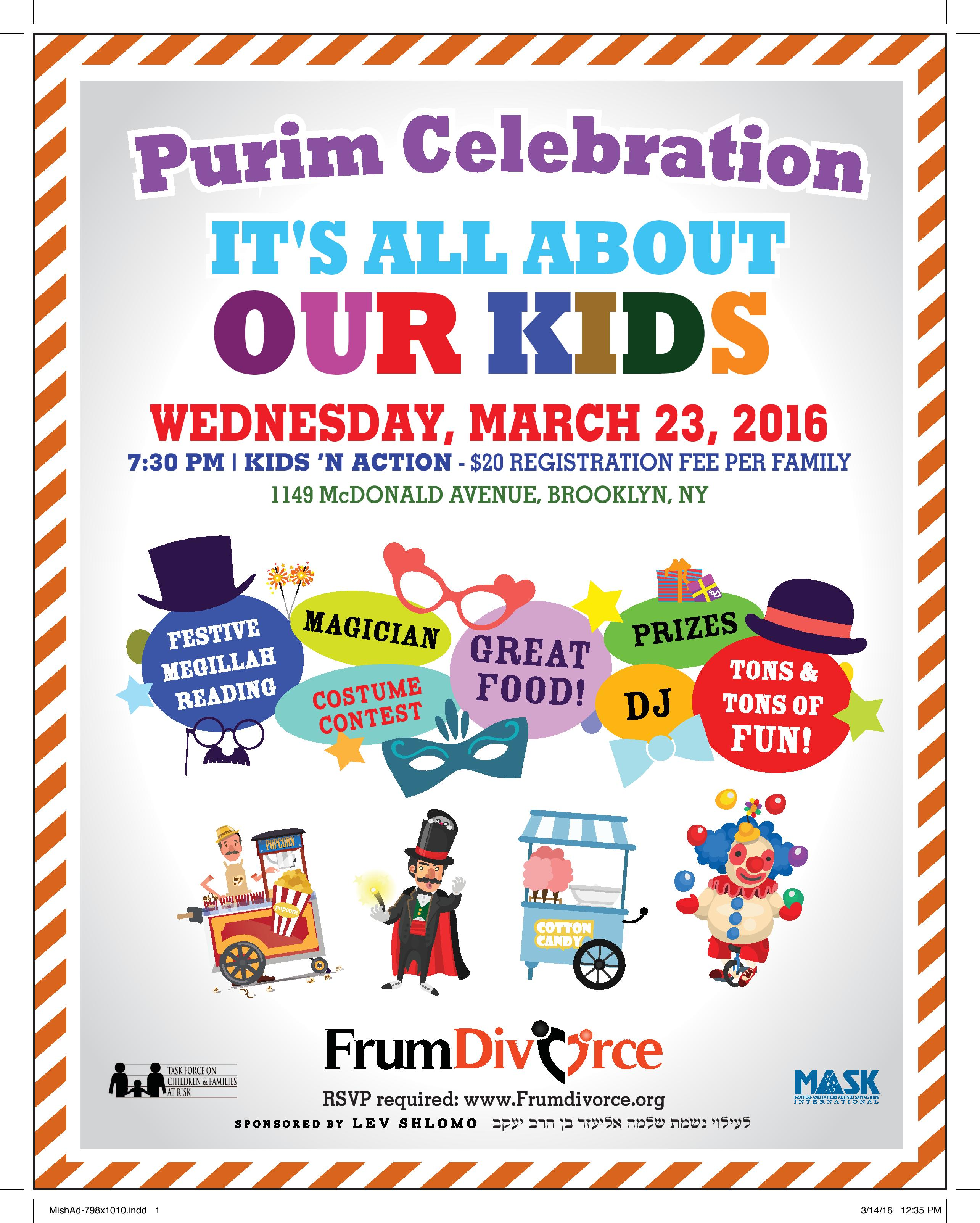 Purim Celebration: It's All About Our Kids