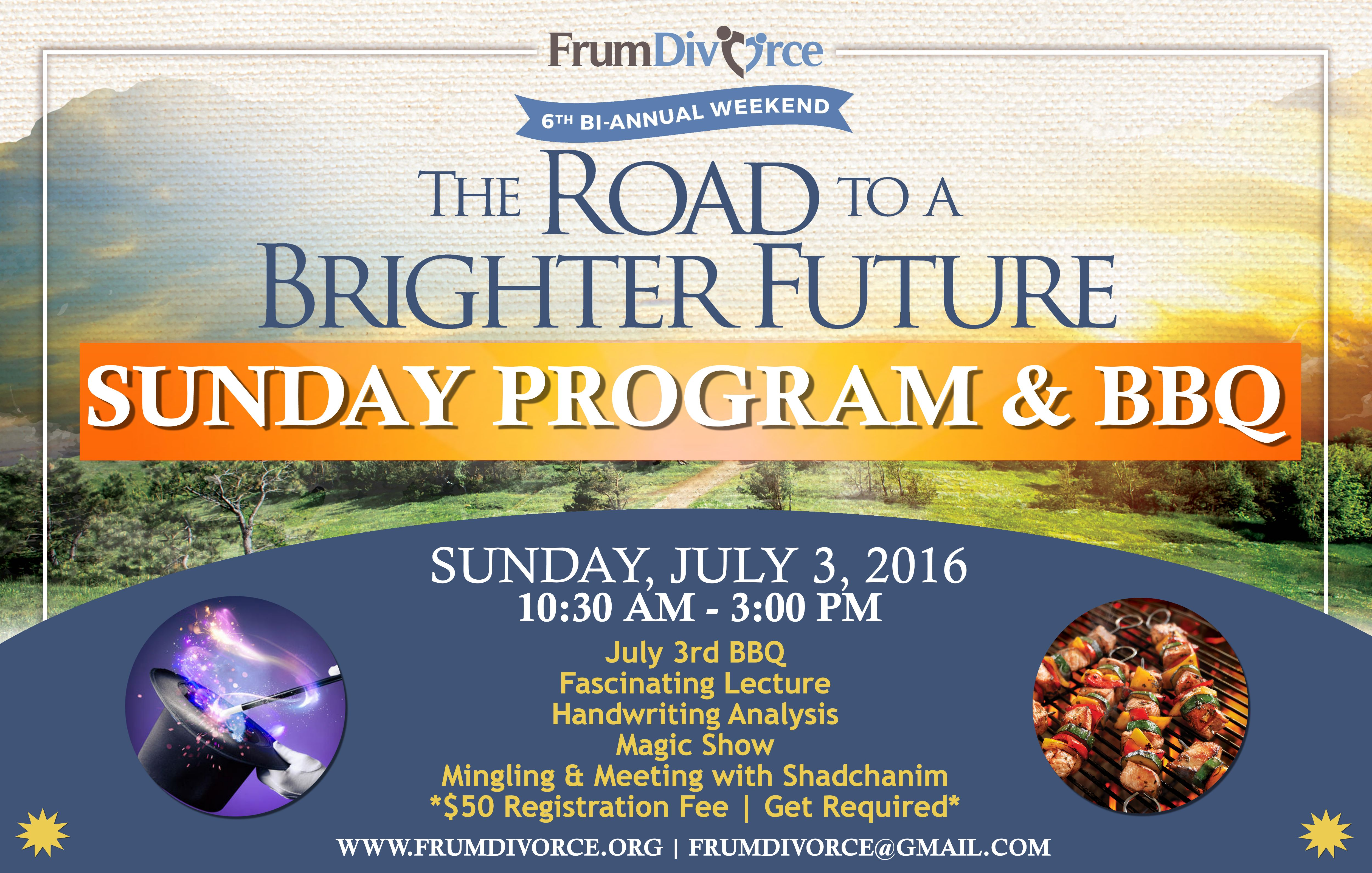The Road to a Brighter Future: Sunday Program & BBQ